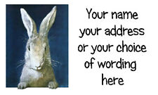 21 X Personnalisé Adresse étiquettes autocollants-style vintage Bunny Rabbit-Artisanat