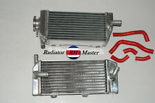 ALUMINUM RADIATOR FOR 2005-2008 MOTORCYCLE HONDA CRF450R 2ROW + Red Hoses