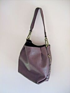 M&S Med Burgundy Wine Synthetic Leather Zip + Magnetic Clasp Fasten Bucket Bag