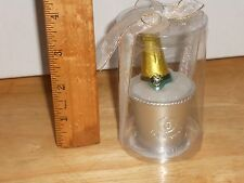 """Champagne Bottle in Ice Bucket Candle Celebration Novelty Mini 3 1/2"""" Collectibl"""