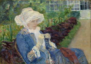 Mary Cassatt Lydia Crocheting in the Garden at Marly Giclee Paper Print Poster