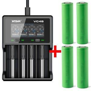 Xtar VC4S - Ladegerät inkl. 2/4 Sony Konion VTC5A Akkus 18650 - 2600mAh 35A