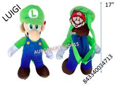 "Nintendo Super  Mario Bros- LUIGI Large 17"" PLUSH DOLL BACKPACK Toy -4713"