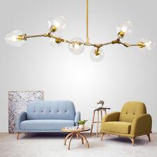 Large Chandelier Lighting Bar LED Lamp Glass Pendant Light Modern Ceiling Lights