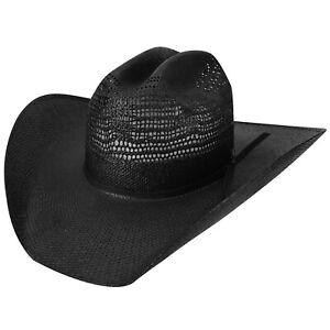 Desert Knight Western Hat  by Bailey Western, Bk- 7 3/8, Straw, Marlboro Crown