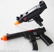 2x Toy Machine Guns! Military Soldier KG-9 Cap Gun & UZI Cap Guns Set