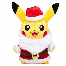 "Santa Claus Stuffed Dolls POKEMON Pikachu Soft Plush Animal Toys 11.8"" Xmas Gift"