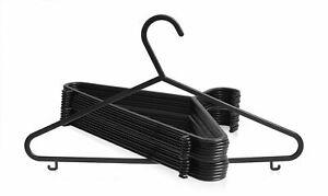 Black Plastic Clothes / Bedroom Wardrobe Coat Hangers FREE & FAST DISPATCH