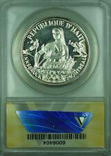 "1973 50G Haiti ANACS PF 66 50 Gourdes ""Montreal Olympics"" Silver Coin KM#113.2"