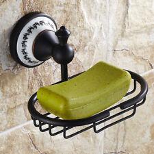Wall Mounted Black Soap Dish Holder Bathroom Brass Shower Soap Storage Basket
