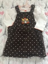 2pcs Kids Baby Girl Thanksgiving Clothes Tops+ Strap Turkey Dot Skirt Outfit Set
