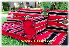 Hand made ARABIC SEATING COVER Red Velvet Indoor / outdoor HOOKAH shisha lounge