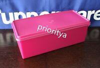 Tupperware Jumbo Bread Server Keeper Container Radish Fuchsia Pink New
