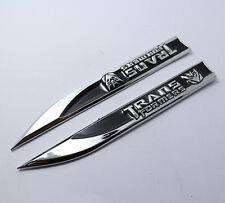 1pair,Black Metal Car Emblem Badge Side Fender Stickers Transformers Decepticons