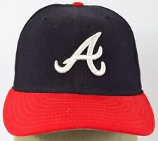 Black & Red Atlanta Braves A Logo embroidered baseball hat cap fitted