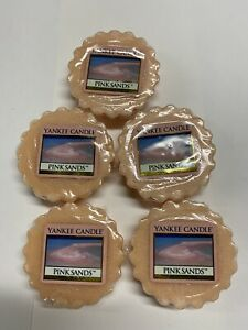 Yankee Candle Tarts: PINK SANDS Wax Melts Lot of 5 Pink New