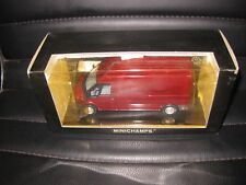 MINICHAMPS 1.43 FORD TRANSIT BOX VAN HIGH ROOF SALSZ MET RED OLD SHOP STOCK