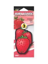 Auto Expressions Make Scents Paper, Strawberry Auto Air Freshener, 3-Pa 48FF7-3P
