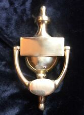 Brass Door Knocker- Traditional Urn Shape 19.5cm