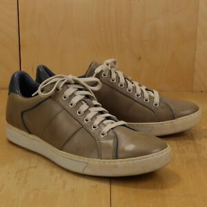COLE HAAN Taupe Beige Leather Sneakers EXCELLENT 10M  G Series Low Top Shoes
