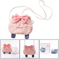 Cute Cat Girls Kids Purse Handbag Children Cross-body Shoulder Bag Coin Holder