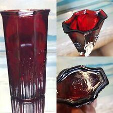 More details for vintage ruby red vase avon single stem art glass vase 16 cm retro mcm kitsch