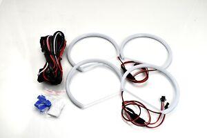 Cotton White 6000K Angel Eye Halo Ring Kit For 98-05 E46 Sedan W/ Projector