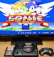 New listing Sega Genesis Model 1 16 Bit Console System + 3 Games! Sonic Pac Man