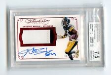 Antonio Brown 2015 Panini Flawless Patch Auto Ruby #D /15 Graded BGS NMMT 7.5