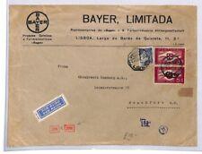 GAP50 1942 Portugal WW2 Wartime Lisboa BAYER Limitada German Censored Air Cover
