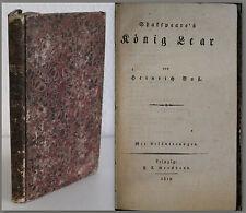 Voß Shakespeare König Lear 1819 Weltliteratur Klassiker Trgödie Roman Top