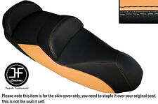 BLACK AND CREAM VINYL CUSTOM FOR 14-15 PIAGGIO MP3 LT 500 SPORT SEAT COVER ONLY