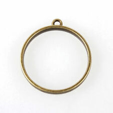 10pcs Tibetan Alloy Ring Frame Hollow Pendant Blanks Setting Nickel Free 30mm