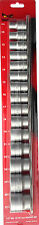 "Teng Tools M1215MM 1/2"" Drive 28130102 15PC  12PNT 10mm-32mm Socket Set"