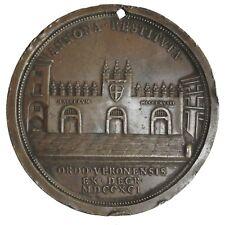 VERONA - Ermolao III Pisani. Medaglia 1791 veduta del mercato alimentari