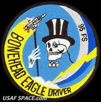 USAF 95th FIGHTER SQUADRON -BONEHEAD EAGLE DRIVER-Tyndall AFB, FL- VEL  PATCH