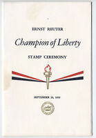 1959 Ernst Reuter Champion of Liberty FDC Program [l.2]