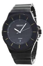 Seiko Men's New Collection Classic Black Ion Finish Watch SGEG19