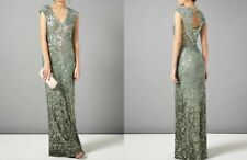 PHASE EIGHT BNWOT Colette Green Sequin Bodycon Cocktail Maxi Dress Size 14