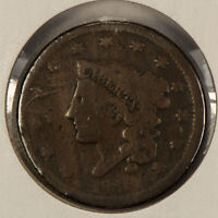 1838 1c Coronet Head Large Cent SKU-Y2599