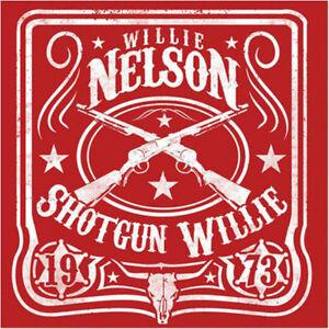 Willie Nelson Shotgun Willie Logo Red Bandana Sweat Band Hanky (mask)