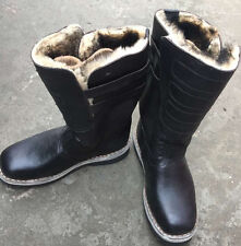 Mongolian Mukluks Glacial Weather Yak Leather Fur High Boots Brown, Black Colour