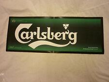 CARLSBERG LAGER LARGE BAR TOWEL /  RUNNER RUBBER BACKED MANCAVE..
