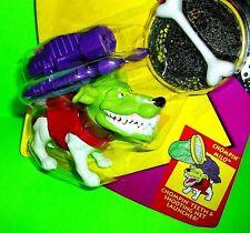 The MASK Movie CHOMPLIN MILO Dog Action Figure Teeth Shooting Net Launcher Bone