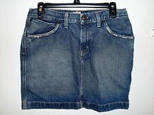 Women's FOSSIL Brand - Worker Skirt - Denim Blue Jean Mini Skirt - Size 8