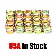 """10 PCS 10mm 3/8 """" Spring Band Type Action Fuel / Silicone Vacuum Hose Pipe Clamp"""