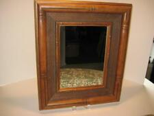 """Rare Vintage Wood Bamboo Hollywood Regency Style Wall Mirror ~  20"""" X 16"""" X 2"""""""