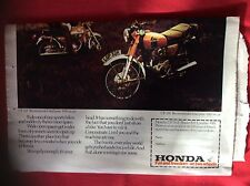 m2c ephemera 1972 large folded advert honda motorbikes on two wheels