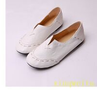 2017 Women Girl Ballet Flat Moccasins Loafers Slip On Leather Shoes Comfort Soft