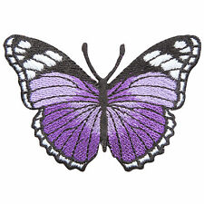 Purple Butterfly Insect Animal Flying Bird Hippie Peace Boho Iron-On Patch #A123